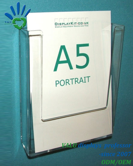 China Top Quality Clear A40 Plexiglass Acrylic Leaflet Brochure Cool A5 Leaflet Display Stands