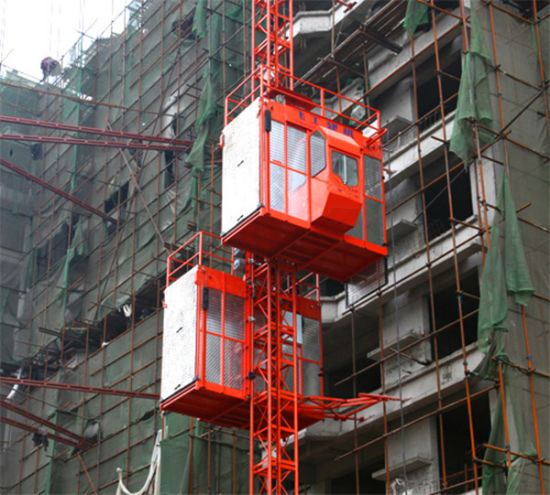 Sc200/200 Double Cages Passengers Construction Building Hoist pictures & photos
