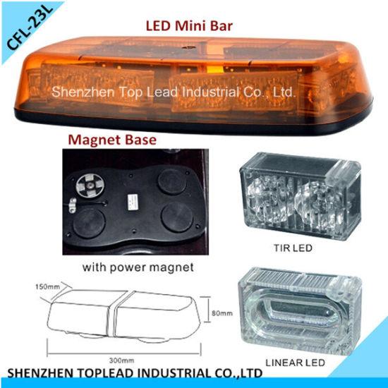 LED Mini Light Bar /Strobe Rotating LED Warning Light Bar /Magnet and Plug LED Bar (CFL-23L)