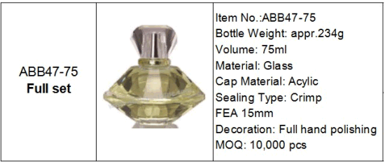 Stylish High Quality French Glass Perfume Bottle Hand Polishing pictures & photos