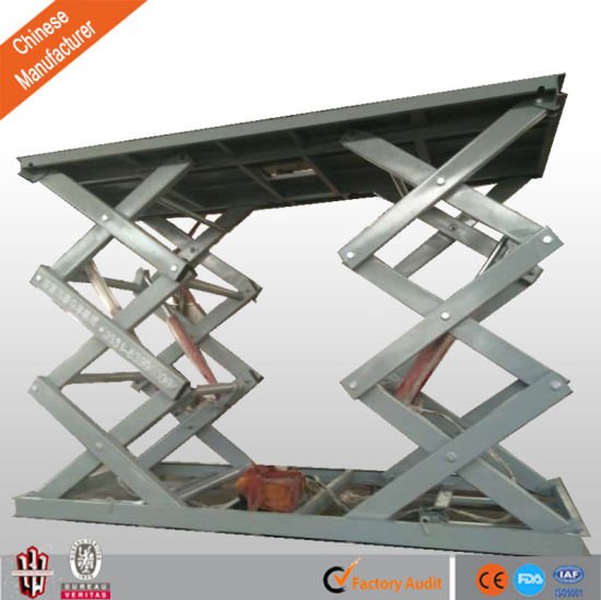 Ce Fixed Cargo Scissor Lift Be Used in Warehouse pictures & photos