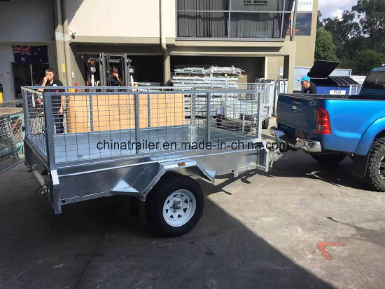 8X5 Fully Weld Box Trailer / Strong Cage Trailer/Tipping Box Trailer/Utility Car Trailer