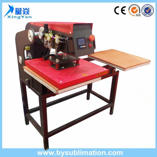 china up slided pneumatic double stations heat press machine china