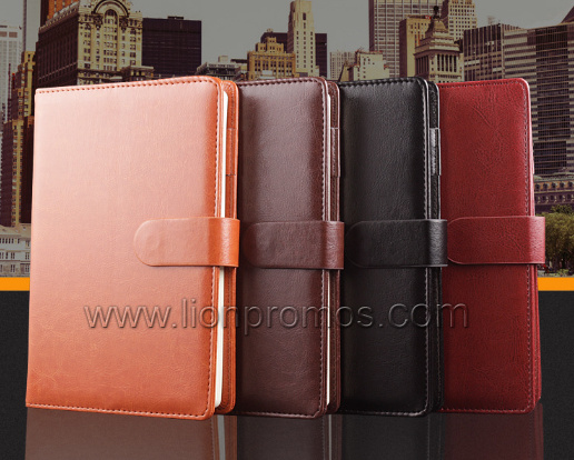 A5 Size Magnet Close PU Leather Notebook Custom Logo Embossed pictures & photos