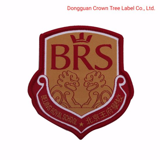 Brs Customized Brand Name Logo Woven Badge for School Uniform