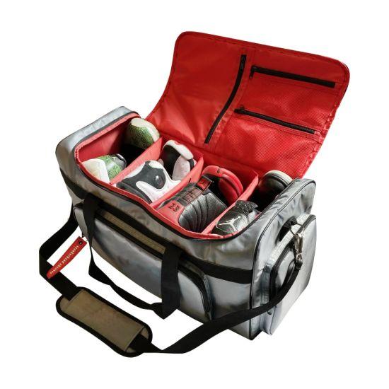 Sneaker Bag, Duffel Bag, Gym Training Bag, Travel Bag, Basketball Bag, Football Bag with 3 Adjustable Compartment Dividers