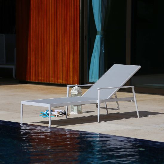 Outdoor Aluminum Lounge with Textilene Fabric