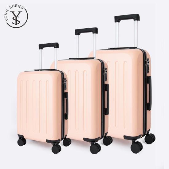 Promotion Hard Shell Lightweight Fashion Plastic Suitcase Luggage Set