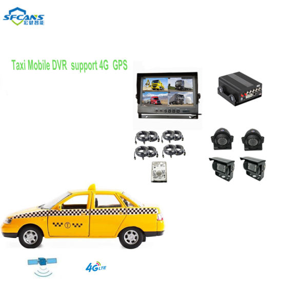 HD Portable Taxi Vehicle Video Recorder with Outdoor Security Camera
