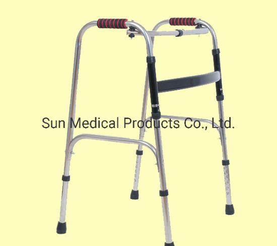 Light Weight Foldable Stainless Steel Walking Stick- Rollator -Walker