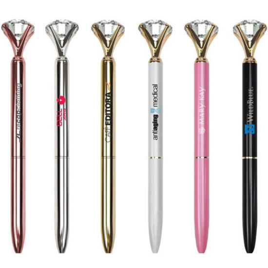 Amazing Metal Diamond Promotional Gift Stationery Ball Point Pen (ZH-1034)