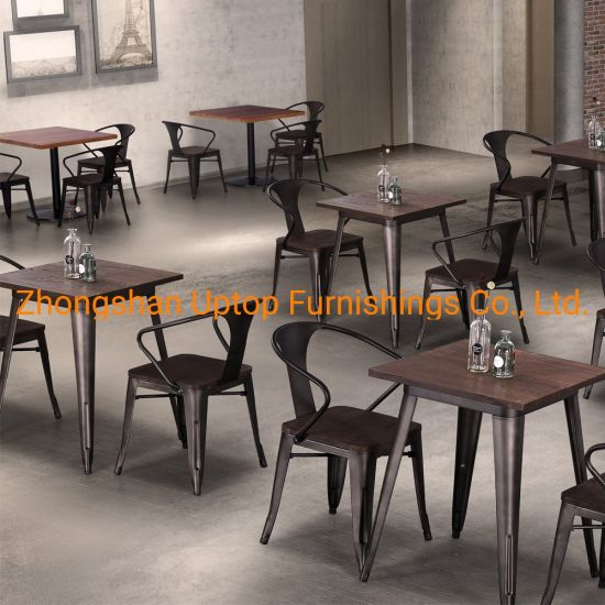 Cafe Metal Furniture Restaurant Sofa Booth Table Chair Canteen Table Bar Stool Table Durable Quality Commercial Furniture Plywood Cafe Booth (SP-CT860)