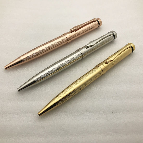 Business Writing Gift Gold Metal Pen with Logo Printed
