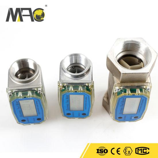 Macsensor Msf 2-26.4 Gpm (9-100 Lpm) Turbine Flow Meter Electronic Digital Flowmeter Liquid Water Meter Fuel Meter Gas Diesel Fuel Oil Flowmeter LCD Display Ga