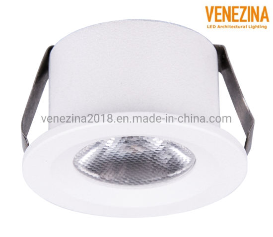 Multi-Color Housing Manufacturer Price IP44 Pure Aluminum 1W Recessed Light LED Downlight for Shopping Mall