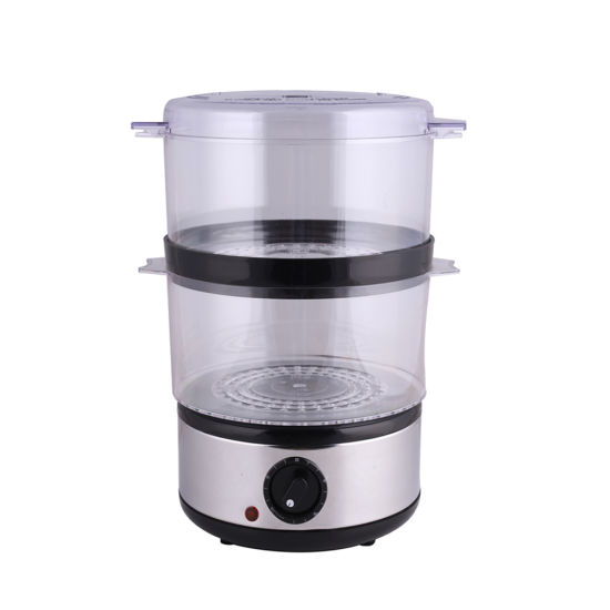 2019 Hot Electric Portable Stainless Food Steamer with 2 Layer