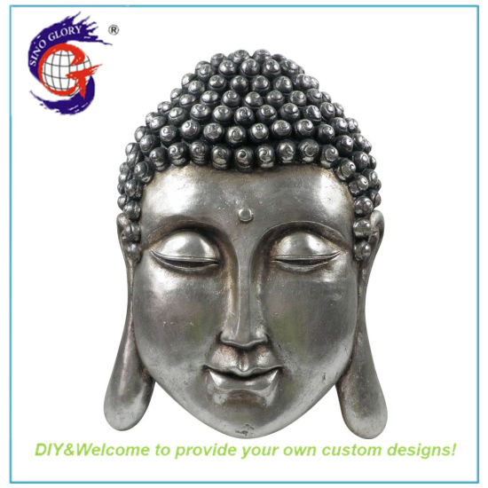 Silver Big Weight Buddha Sculpture for Decor