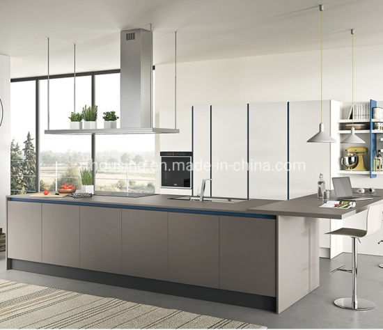 Lacquer Modern Plywood Home Furniture Kitchen Cabinet Zf-Kc-006