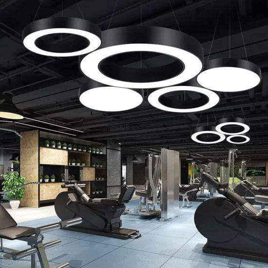 Most Popular Iron Material Round Ring Shape LED Pendant Light for Gym Lighting