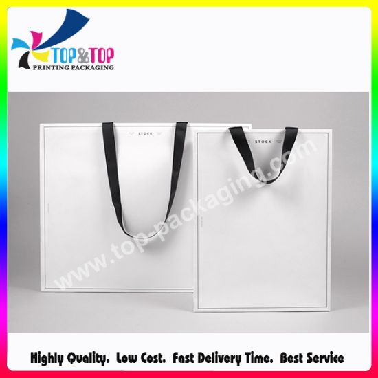 Custom Recyclable Cheap Printed Garment Suit Paper Shoppin Packaging Bag Logo Paper Clothing Gift Bag