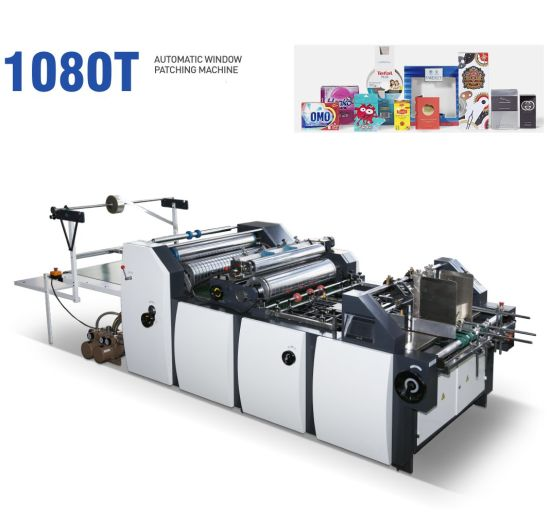 Tissue Box Window Patching Machine with Creasing and Cutting (XY1080)