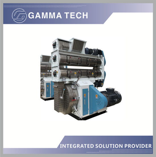 1-2tph Poultry Eqipment /Animal Pellet Mill Machine with Hammer Mill/Mixer/Cooler in China
