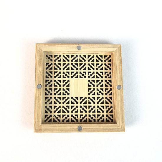 Wood Bamboo Handmade Craft Incense Stick Holder Inserted Wooden Incense Burner Box