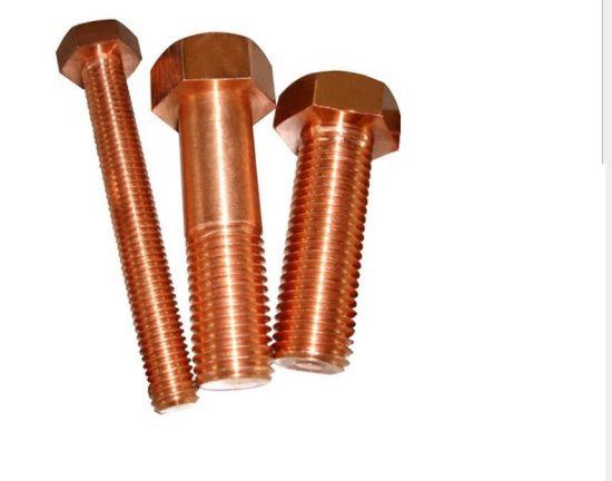Silicon Bronze C65100 Hex Bolt, Bronze Hexagonal Head Bolt, Full Thread or Half Thread Bolt
