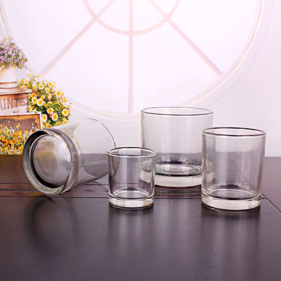 Empty Glass Candle Holders Containers Round Shape pictures & photos