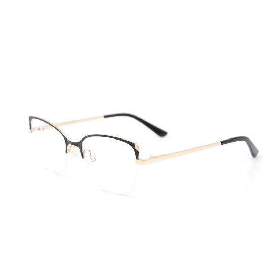 Most Popular Products 2019 Half-Rim Cat Eye Optical Frames Manufacturer in Wenzhou