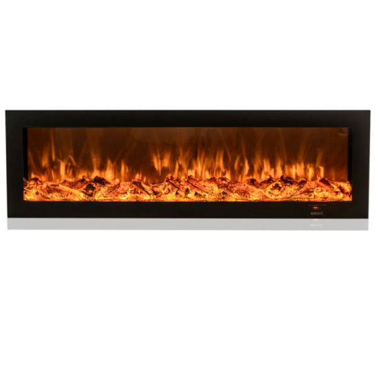 Smart Remote Control Decor Fire Led Decorative Insert Recessed Wall Mounted Electric Fireplace Pictures