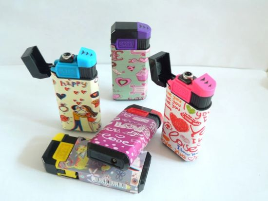 Personalized Sticker Design for Wrap Electronics Windproof Flame Lighter pictures & photos