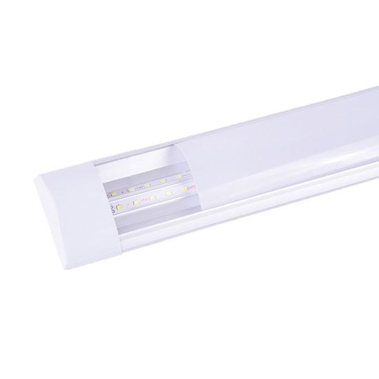 Aluminum LED Batten Lamp LED Linear Lighting Fixture 20W 40W LED Flat Tube Lights