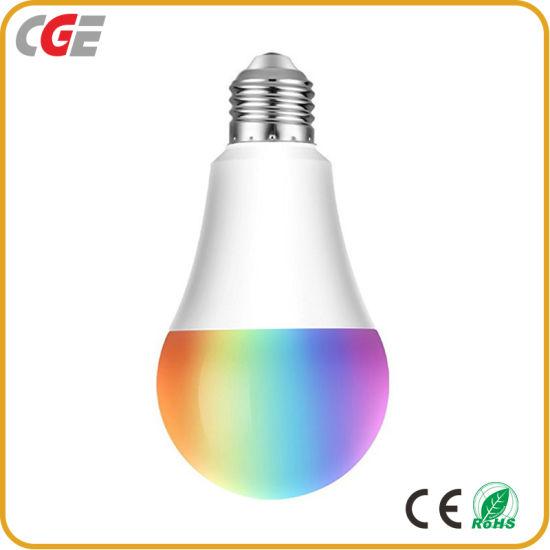 E27 Smart WiFi LED Lamp Bulb Lighting Tmall Genie Alexa Google Home Voice Phone Tuya APP RGB Cw Ww 9W 2700~6500K