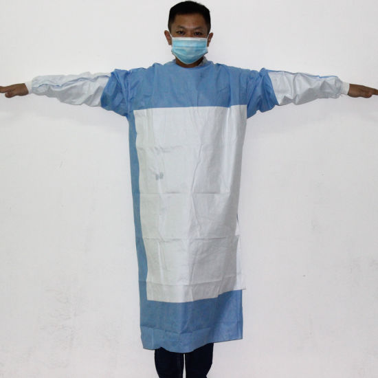 PP+PE Fluid Resistant Isolation Gowns / Protective Suit / Protective Wear