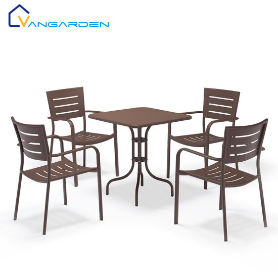 5pcs Balcony Garden Dining Aluminum Table Chair Set Sale China Garden Table Chairs Balcony Table Chair Made In China Com
