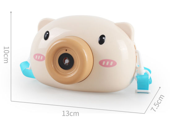Piggy Bubble Camera Bubble Machine Toy Children Automatic No-Leak Electric Girl Heart Bubble Gun Bubble Camera Outdoor Pig Shape Toy Bubble Machine for Kids Sum