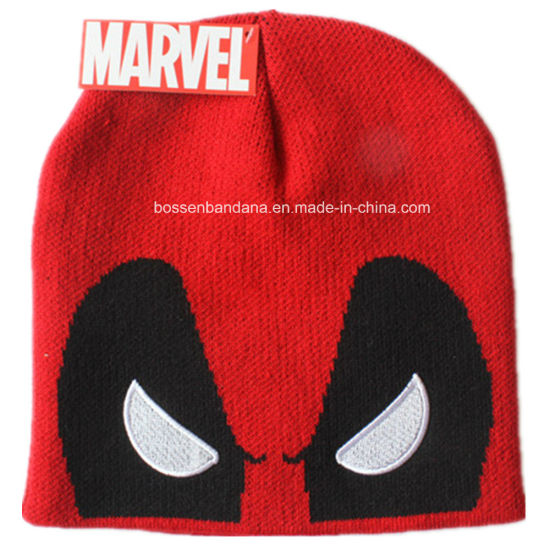 Factory OEM Produce Custom Logo Embroidered Promotioanl Acrylic Knitted Hat Beanie