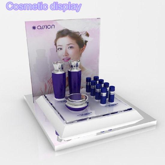 Wholesale Acrylic Cosmetics Display Counter Makeup Display Stand