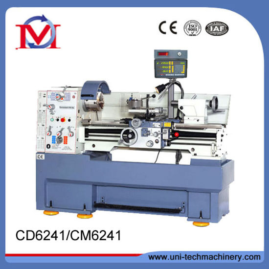 China Hot Sale High Precision Gap Bed Lathe Machine (CD6241)