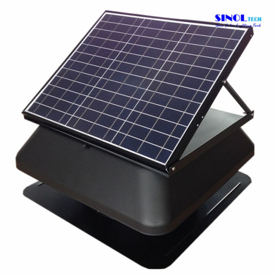 14inch 30w Solar Ed Roof Vent Exhaust Fan With Square Cover Sn2017006