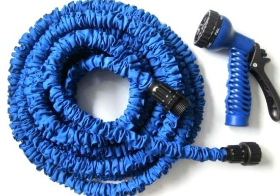Expansion Garden Flexible Seepage PE Rubber Soaker Sprinkler Hose with Eight Nozzles