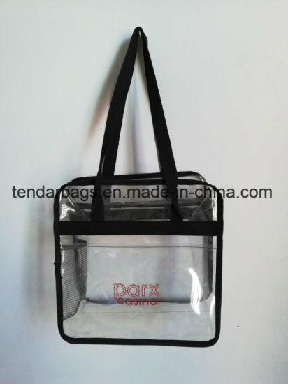 China Plastic Clear Tote Bags Clear Vinyl Pvc Zipper Bags