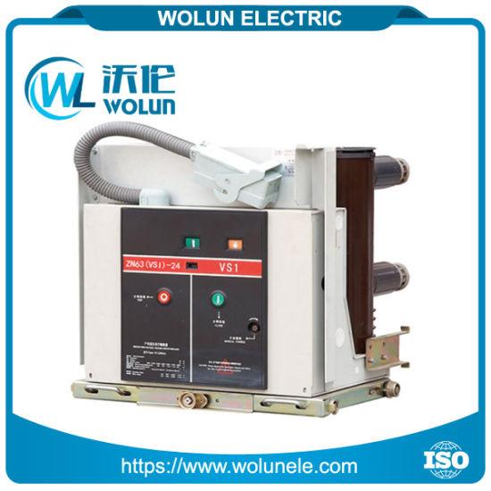 china 24kv indoor medium voltage vs1 type vacuum circuit breaker