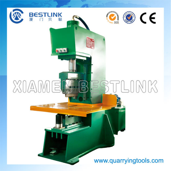Open Frame C-Front 70t Power Natural Stone Splitting Machine for Making Small Cubic Pavers pictures & photos