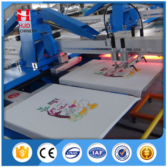 Automatic Oval Silk Screen Printing Machine, Automatic T-Shirt Screen Printer pictures & photos