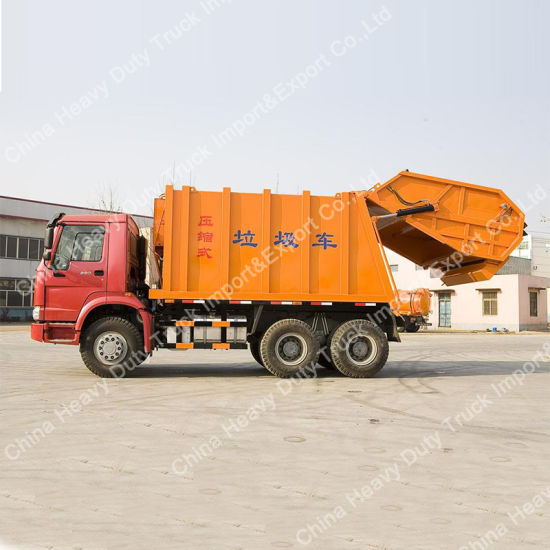 Sinotruk Rear-Loading Compressed Refuse Garbage Truck Collecter (18m3) pictures & photos