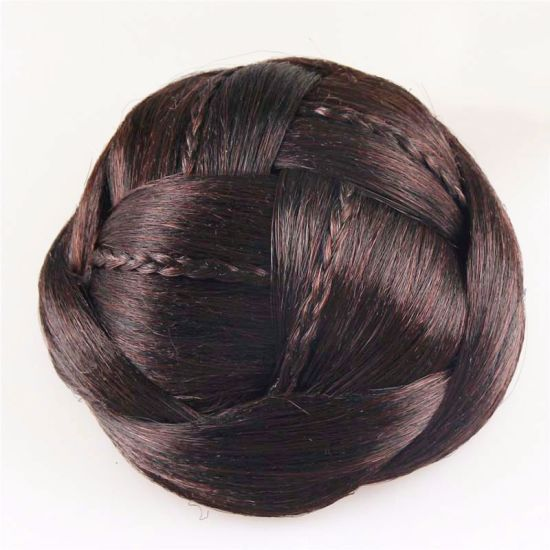 New Novelty Hair Accessories for Women Hair Braided Chignon Synthetic Hair Bun Extensions