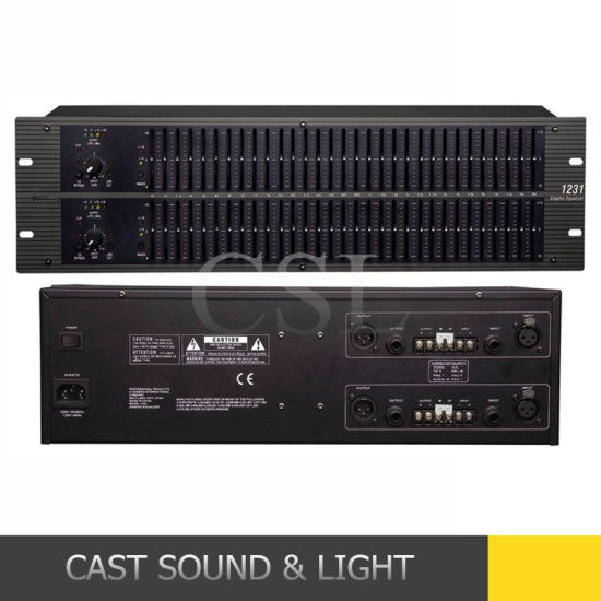1231 Style Dual Channel 31-Band Equalizer for PRO Audio pictures & photos