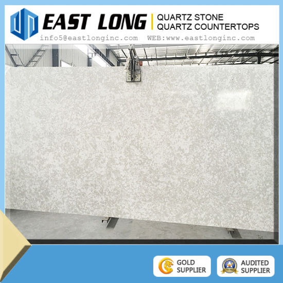Artificial Quartz, Quartz Stone Cut to Size Quartz Slab Grey Color Black Line pictures & photos